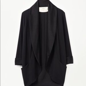 Wilfred Chevalier Jacket in black- tuxedo style